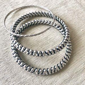 Jewelry - ✨NEW✨2 Silver Bali Style Bracelets